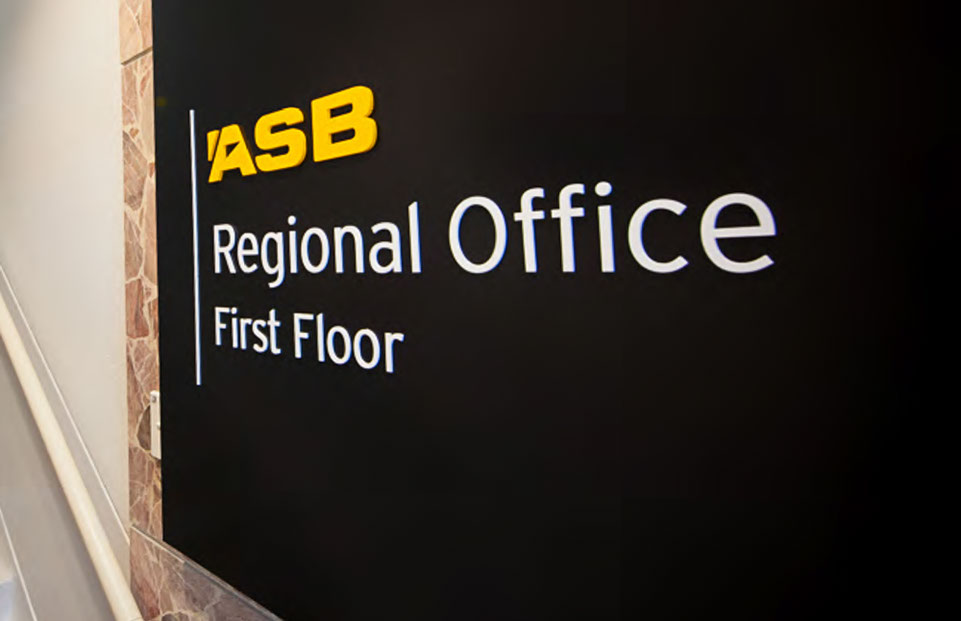 ASB Nelson Regional Office Sign