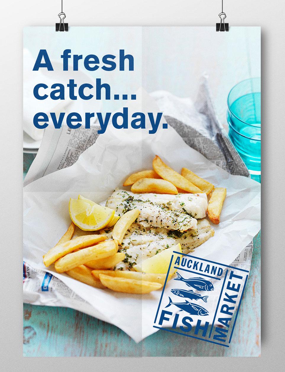 Auckland Fish Market Poster Design