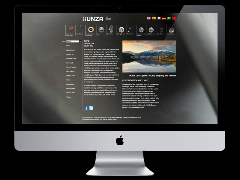 Hunza website design