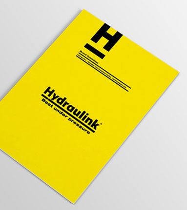 Hydraulink brand guidelines cover