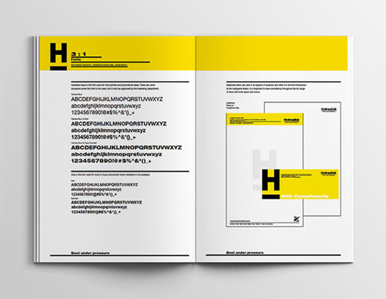 Hydraulink brand guidelines spread