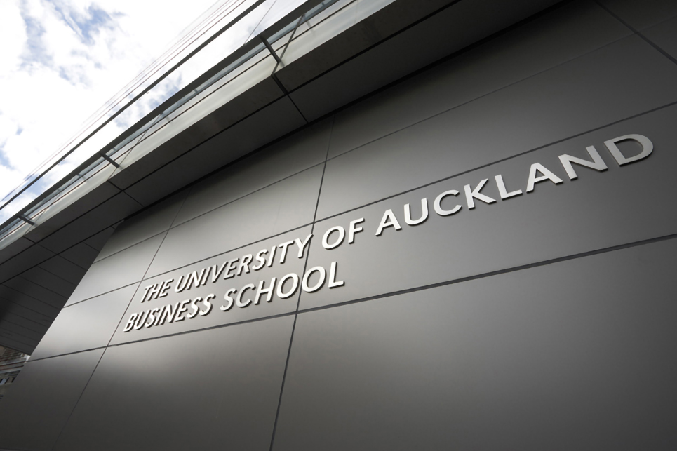 University of Auckland Business School signage